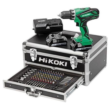 Perceuse visseuse HIKOKI 18V Li-ion 2.5Ah avec 100 accessoires - Kadro